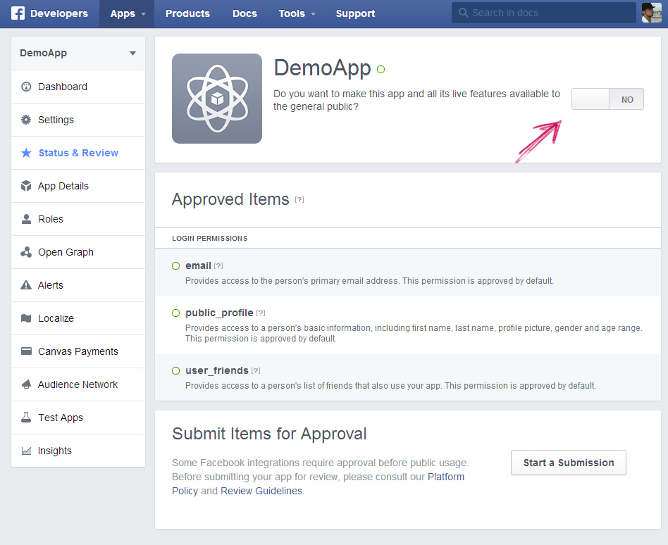 facebook app ip creation step 10