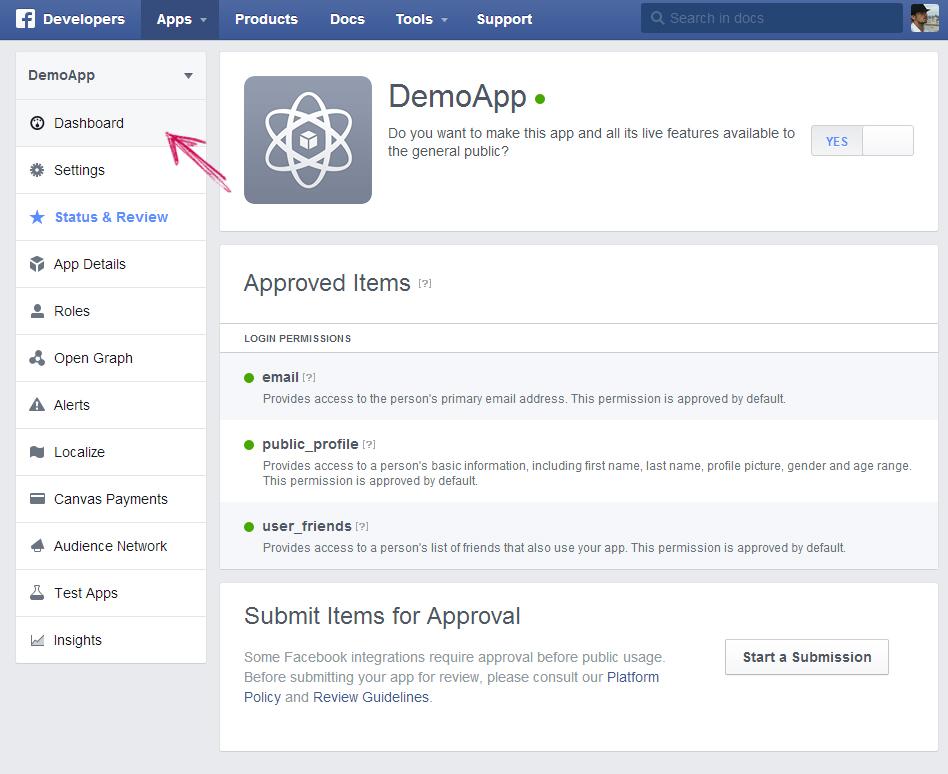 facebook app ip creation step 12