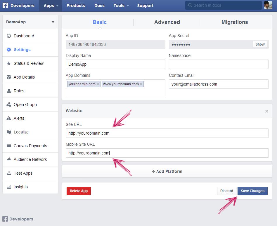 facebook app ip creation step 8