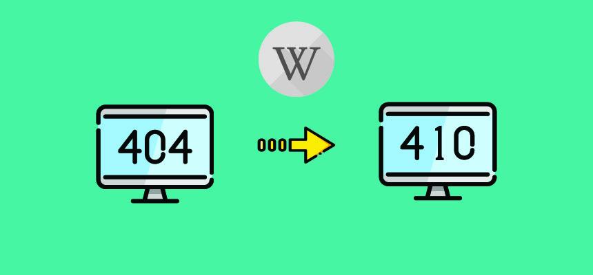 move 404 URL to 410 in WordPress