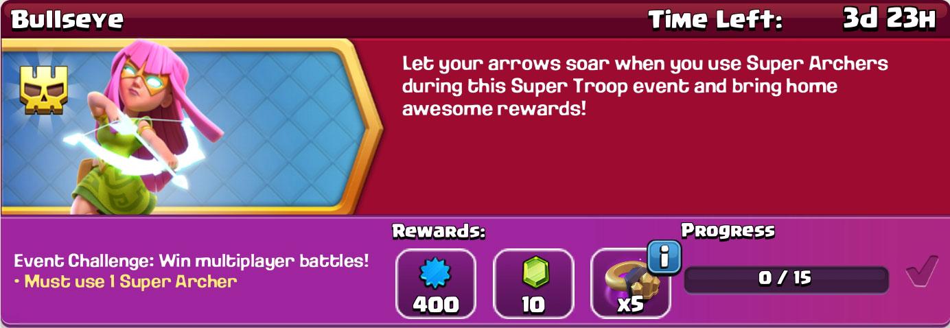 clash of clan Bullseye reward
