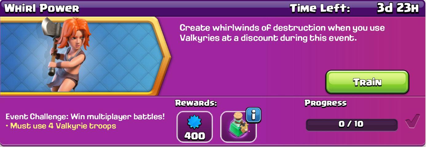 clash of clan Whirl Power reward